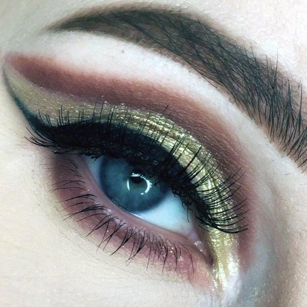Womens Gleaming Gold Brown Ideas Eyeshadow