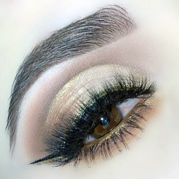 Womens Gold And Brown Eyeshadow Women