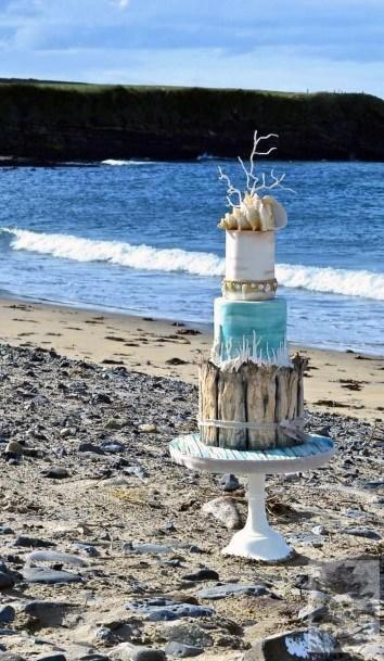 Womens Gorgeous Beach Wedding Cake