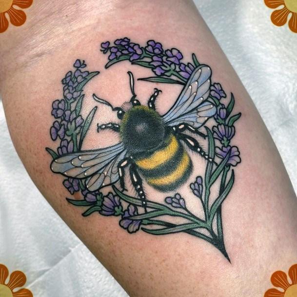 Womens Hand Shining Yellow And Black Tattoo