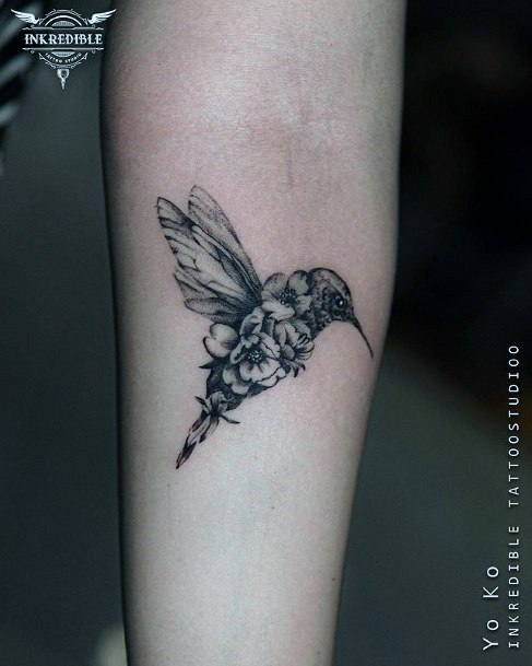Womens Hands Hummingbird Tattoo