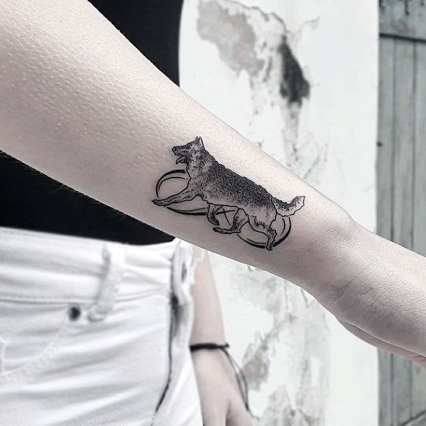 Womens Hands Wild Animal Infinity Tattoo