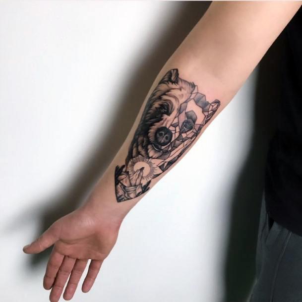 Womens Hands Wonderful Bear Tattoo
