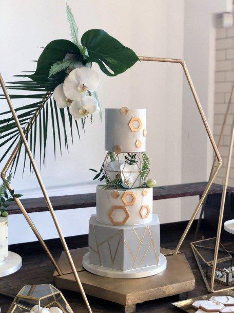 Womens Hexagon Wedding Cake Stand