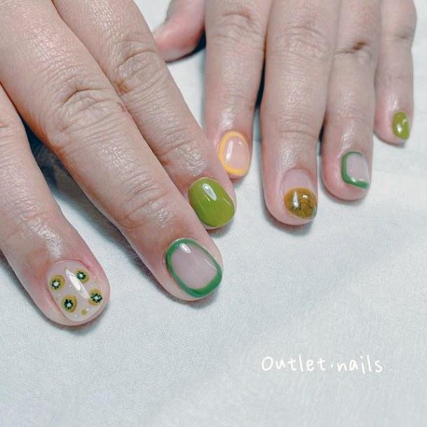 Womens Kiwi Nail Art
