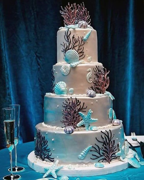 Womens Large Beach Wedding Cake