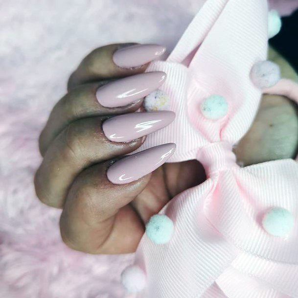 Womens Lilac Solid Romantic Nails
