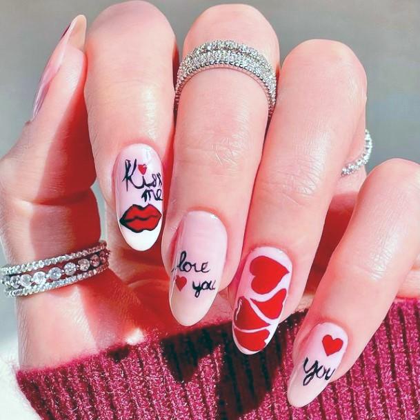 Womens Lovable Romantic Nails