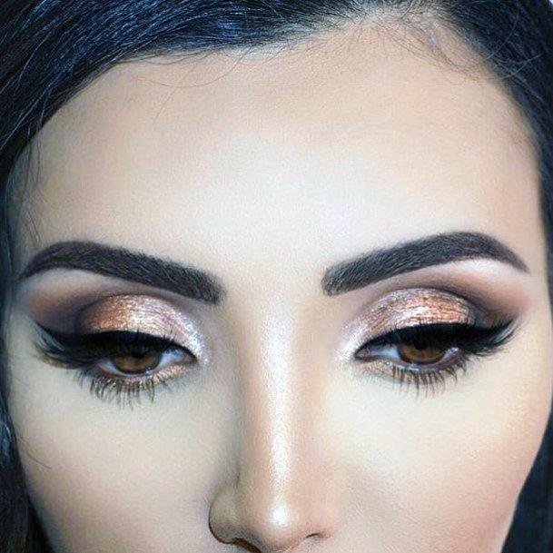 Womens Nice Brown And Gold Eyeshadow