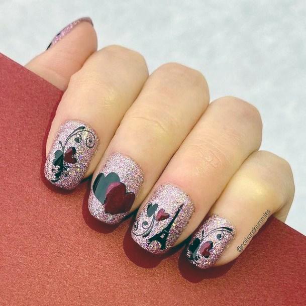 Womens Paris Love Romantic Nails