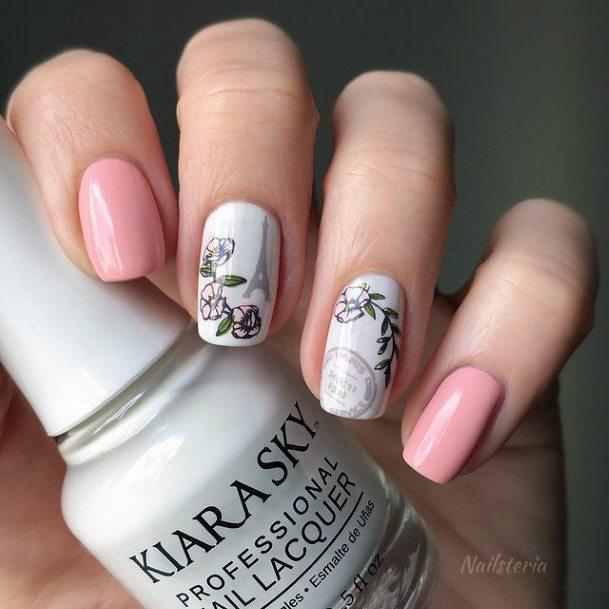 Womens Pastel Romantic Nails