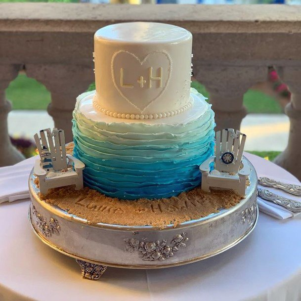 Womens Perfect Beach Wedding Cake