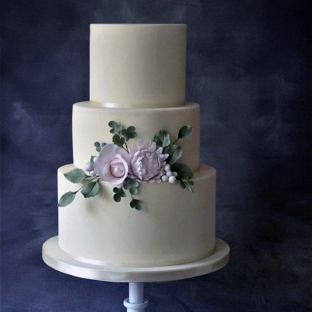Womens Perfect White 3 Tier Wedding Cake