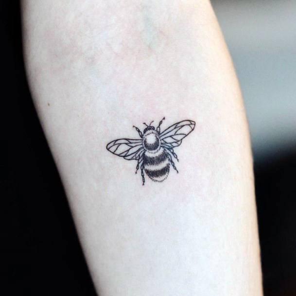 Womens Simple Bee Tattoo