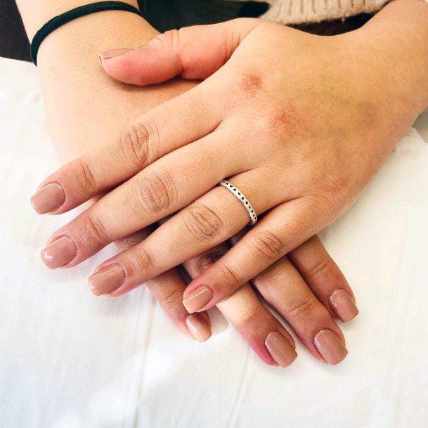 Womens Simplistic Nude Nails