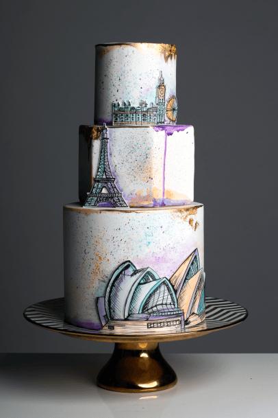 Womens Sleek Wedding Cake Stand
