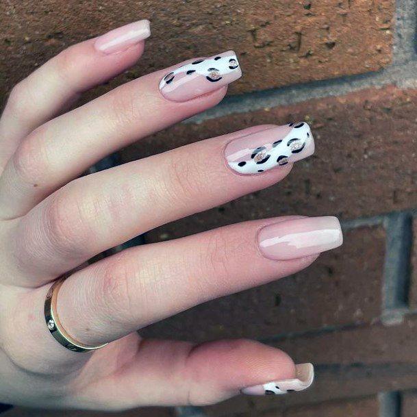 Womens Sliced Design Leopard Nails Art