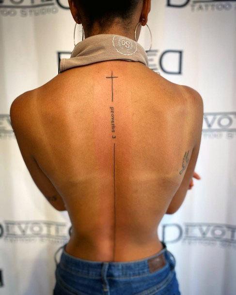 Womens Spine Tattoo