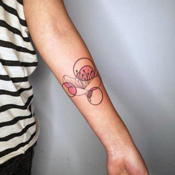 Womens Spiral Art Cherry Blossom Tattoo Hands