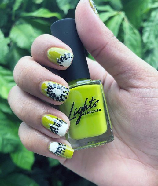 Womens Succulent Kiwi Nails