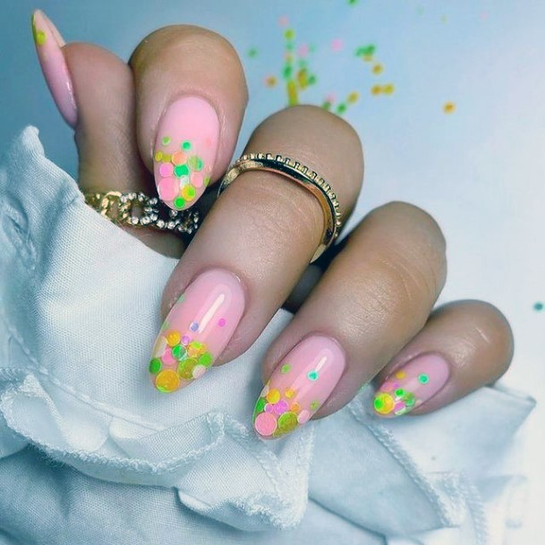 Womens Summer Yellow Flowers April Nails