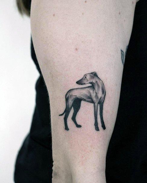 Womens Tall Dog Tattoo Arms