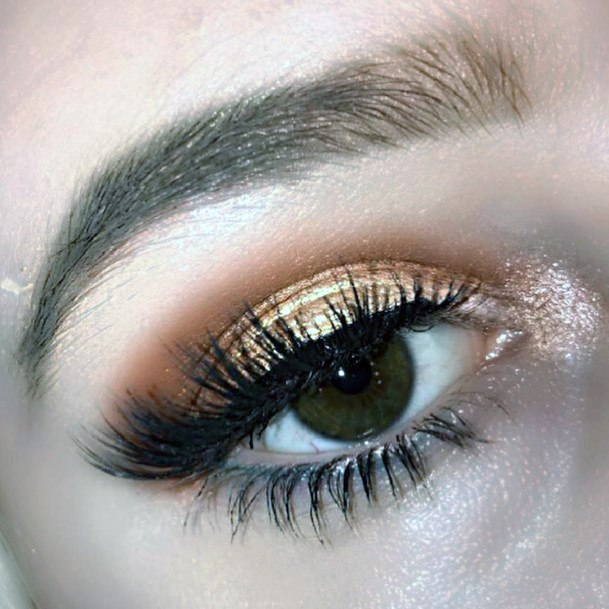 Womens Tantalizing Gold And Brown Eyeshadow