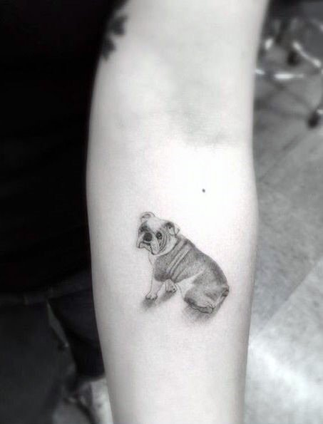 Womens Tattoo Pug Dog