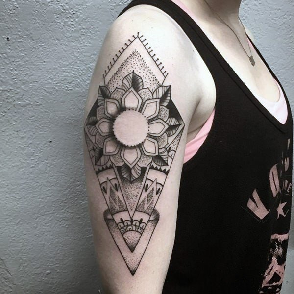 Womens Upper Fantastic Geometric Tattoo