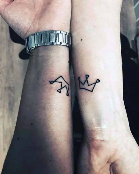 Womens Wrist Simple Crown Tattoo