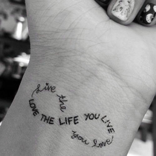 Womens Wrists Infinity Quote Tattoo