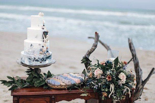 Wonderful Beach Wedding Cake Women