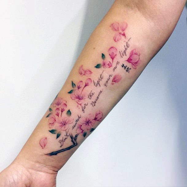 Wonderful Cherry Blossom Tattoo For Women