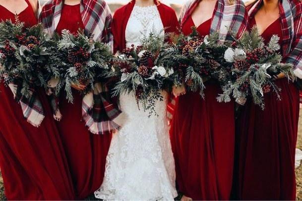 Wonderful Christmas Wedding Flowers
