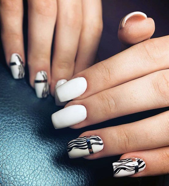 Wonderful White Gel Nails Women