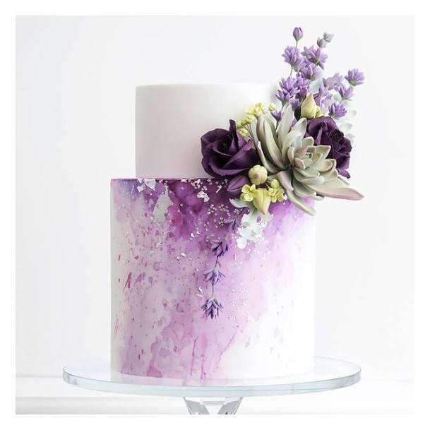 Wonderous Purple Wedding Cake