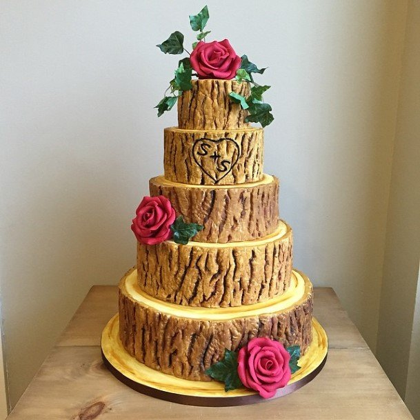 Wood Logwedding Cake Ideas