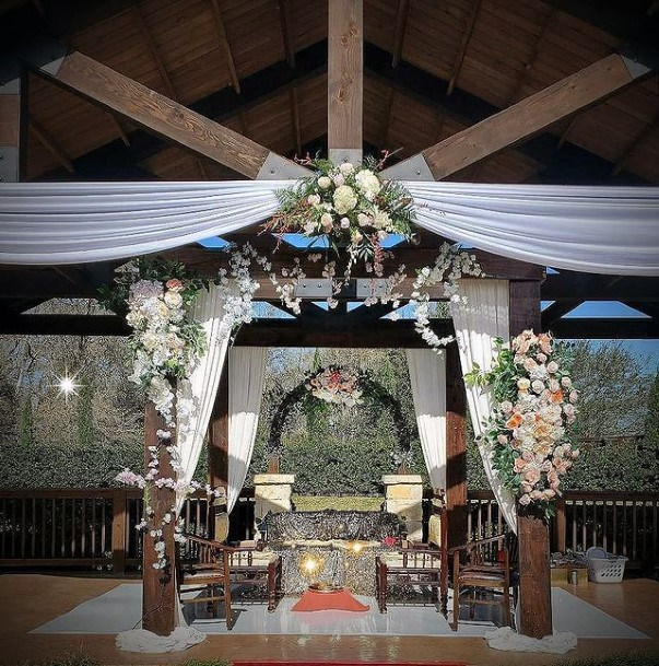 Wooden Interiors Indian Wedding Flowers