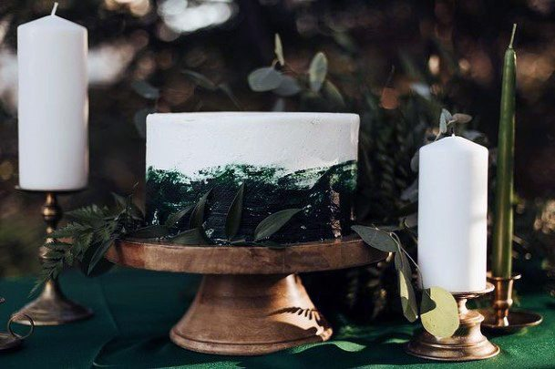 Wooden Simple Wedding Cake Stand Women