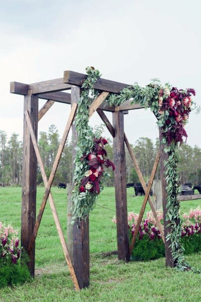 Wooden Wedding Arch Rustic Wedding Ideas