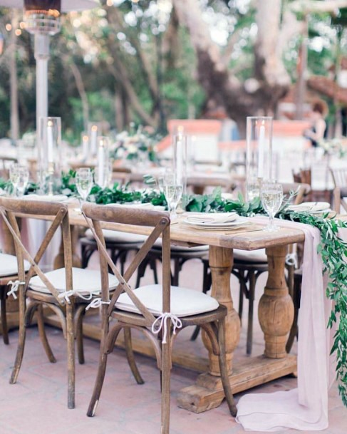 Woodland Fairy Greenery Garland Wedding Centerpiece Ideas