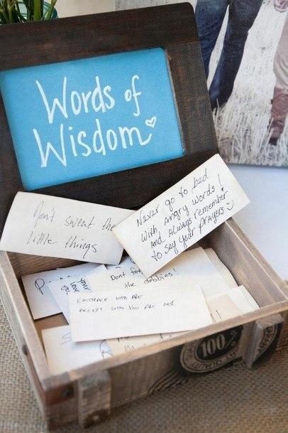 Words Of Wisdom Wedding Guest Book Ideas