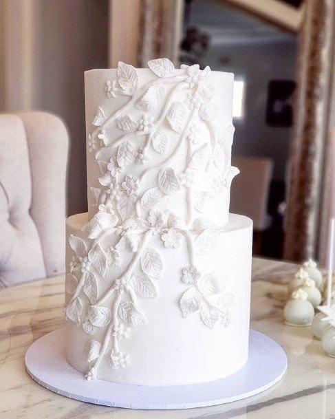 Worthy White Wedding Cake