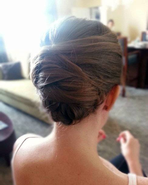 Wrapped Chignon Hairstyle Women