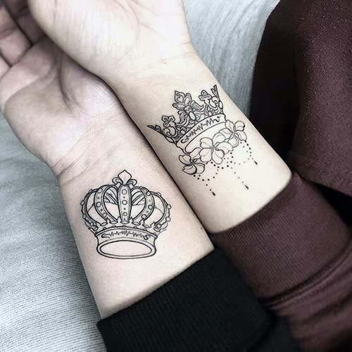 Wrists King Queen Tattoo Womens Art