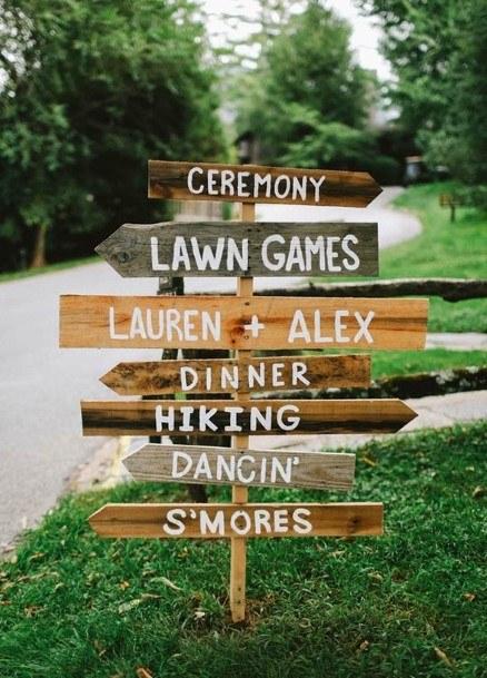 Yard Sign Backyard Wedding Ideas