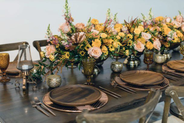 Yellow November Wedding Flowers