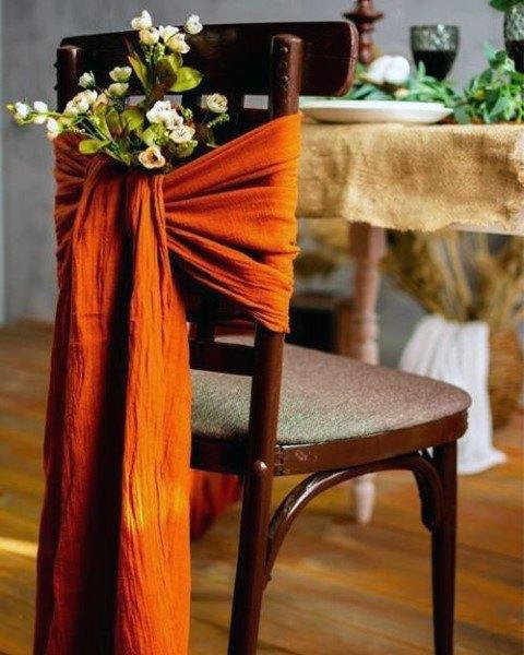 Yellow Ribbon Bow Tie Wedding Flowers