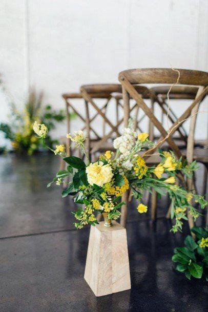 Yellow Wedding Flowers In Vase