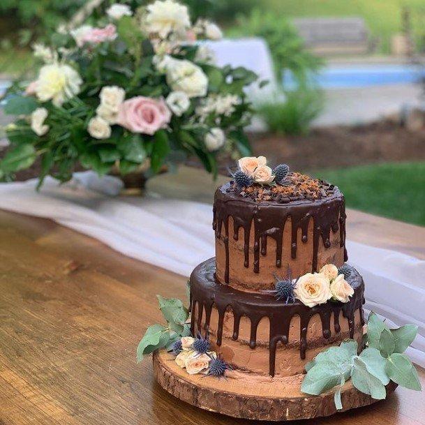 Yum Chocolate Wedding Cake